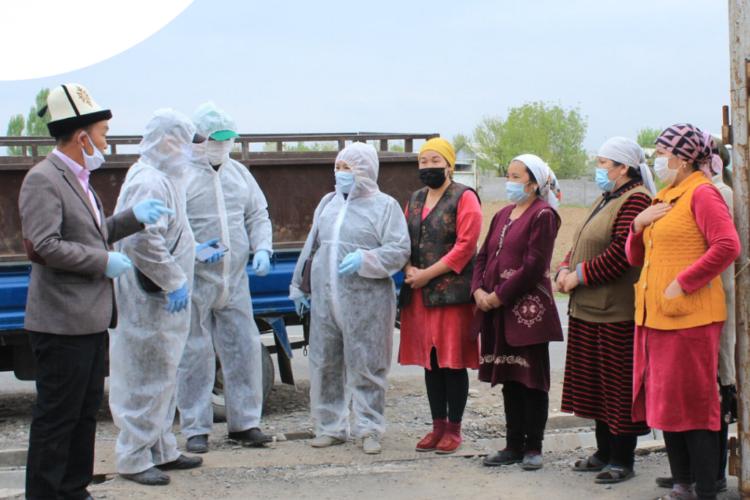 ФСДС оказал гуманитарную помощь уязвимым семьям в Иссык-Кульской и Джалал-Абадской областях в связи с коронавирусом